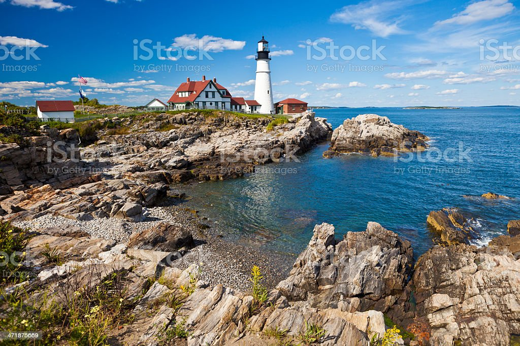 Portland Head Lighthouse In Maine, USA royalty-free stock photo
