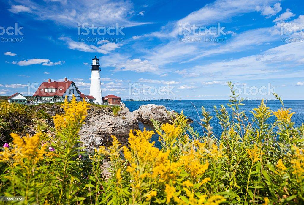 Portland Head Lighthouse In Maine, USA stock photo