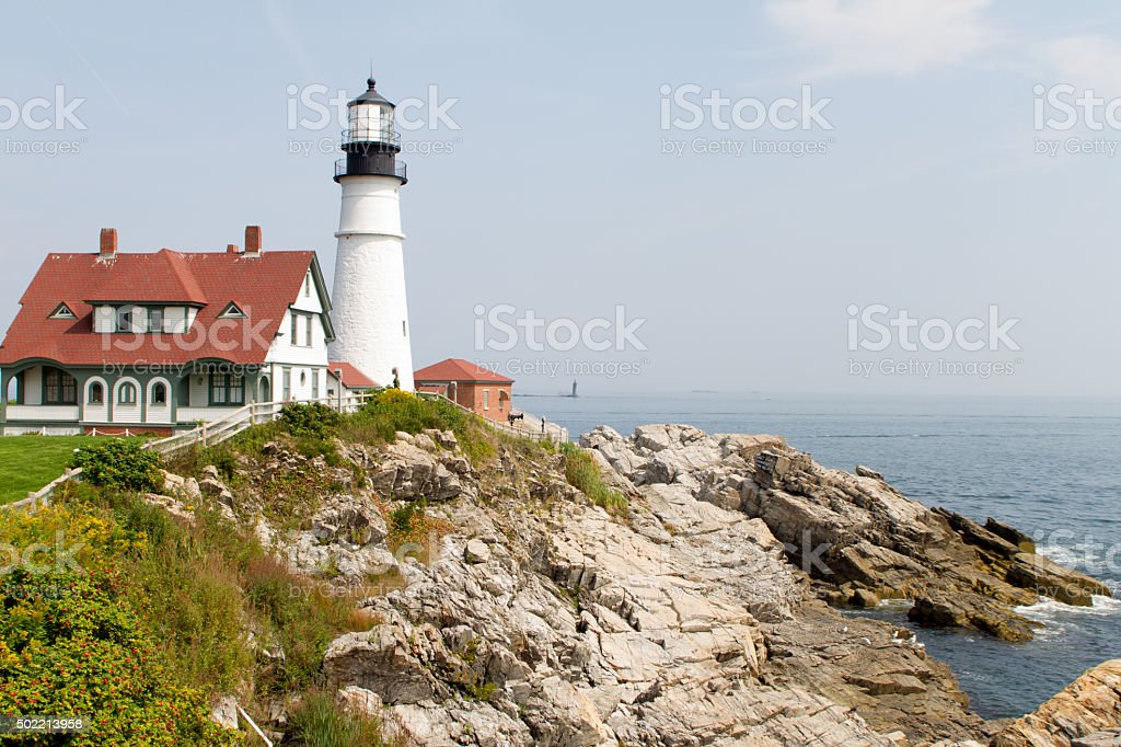 Portland Head Lighthouse in September royalty-free stock photo