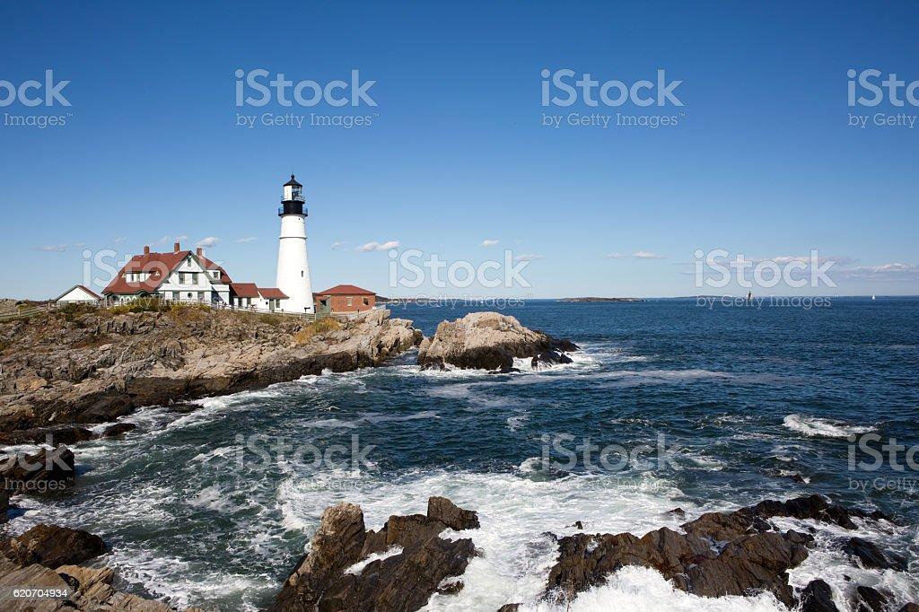 Portland Head Lighthouse Maine stock photo