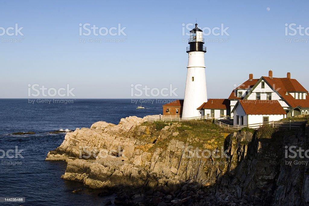 Portland Head lighthouse on the Oregon Coast royalty-free stock photo