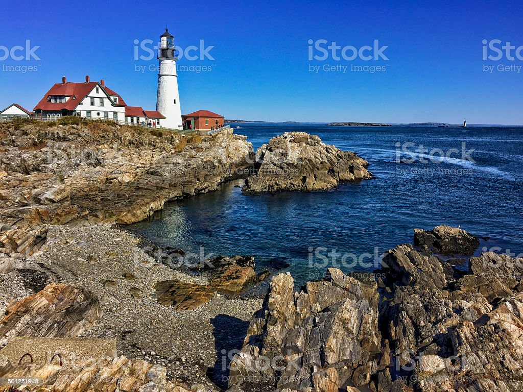 Portland Head Lighthouse - Portland Maine stock photo