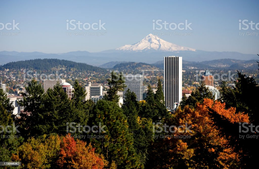 Portland in Autumn Colors stock photo