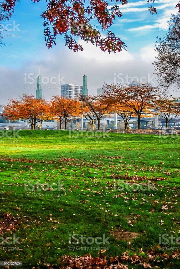 Portland In Fall stock photo