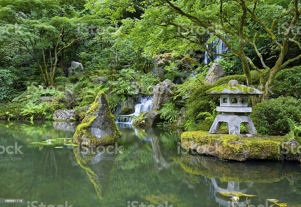 Portland Japanese Garden stock photo