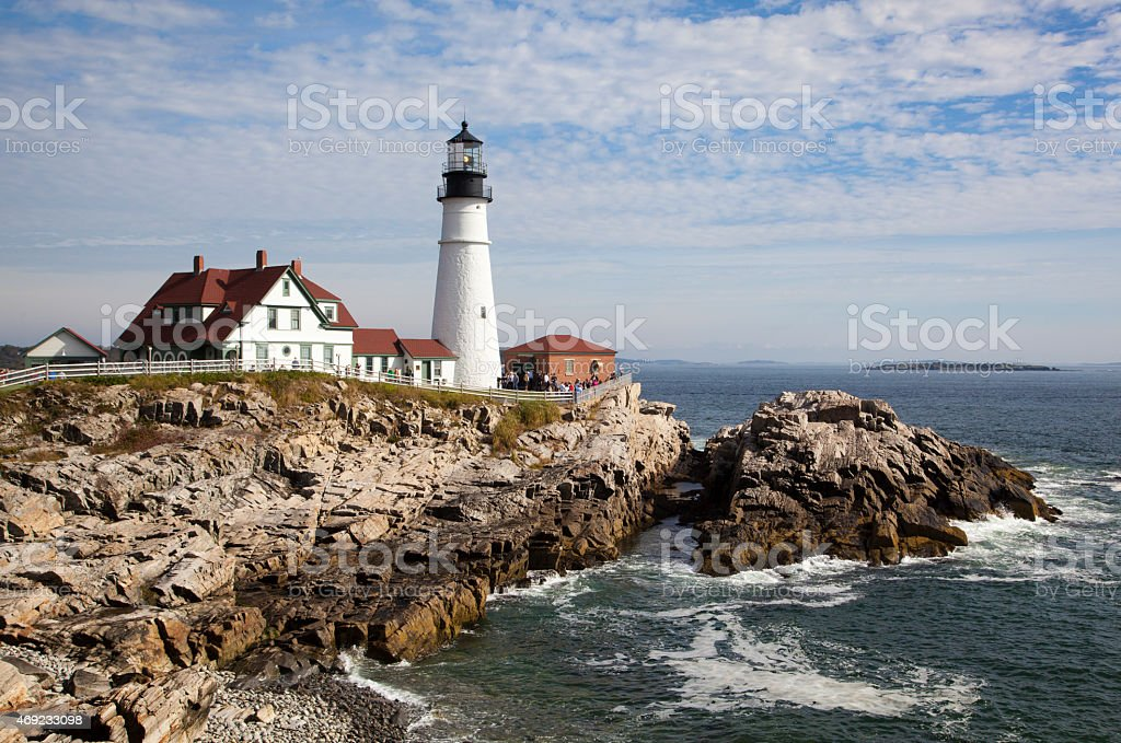 Portland Lighthouse stock photo