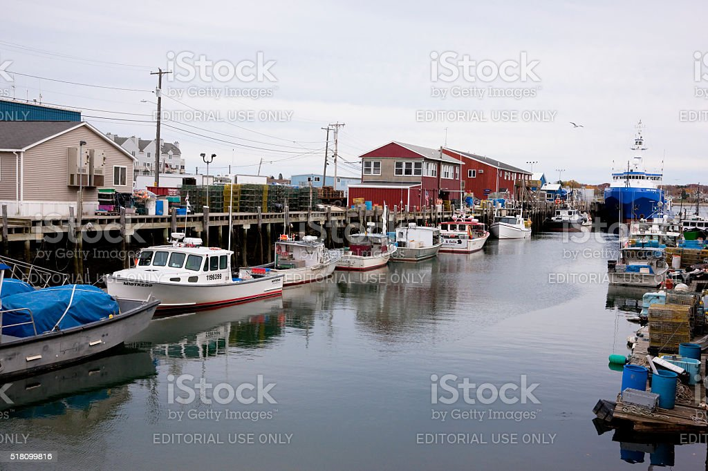 Portland Lobster Boats stock photo