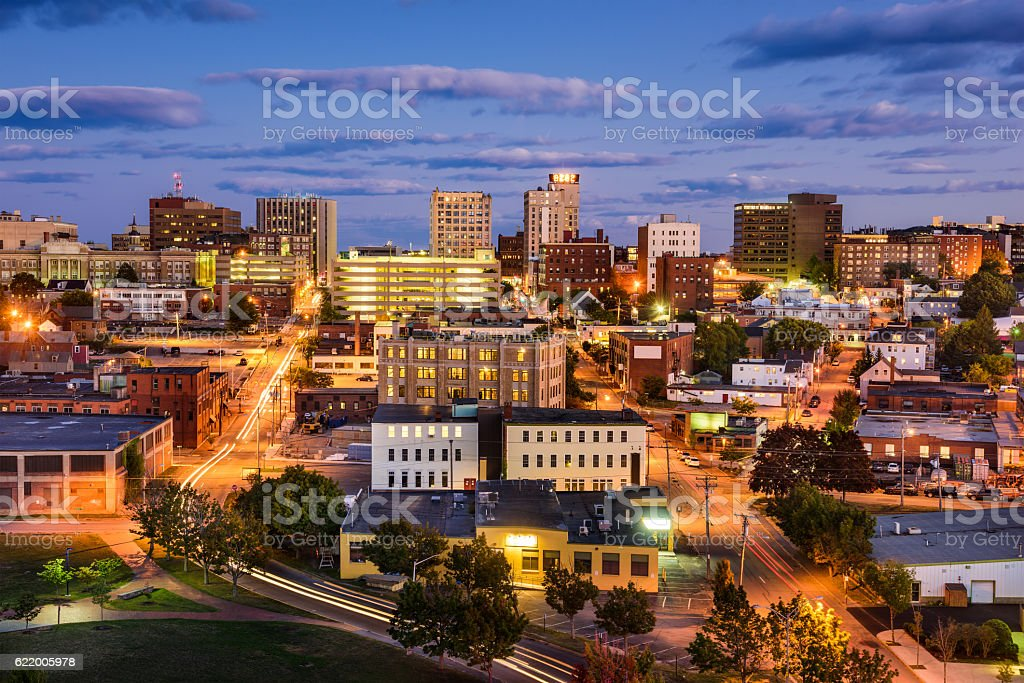 Portland, Maine Cityscape stock photo