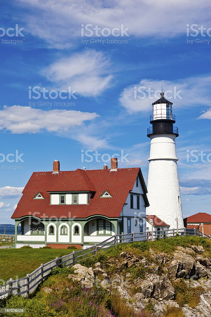Portland, Maine, USA Lighthouse royalty-free stock photo