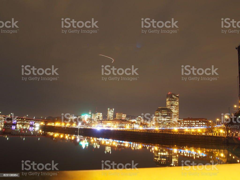 Portland Night-Scape stock photo