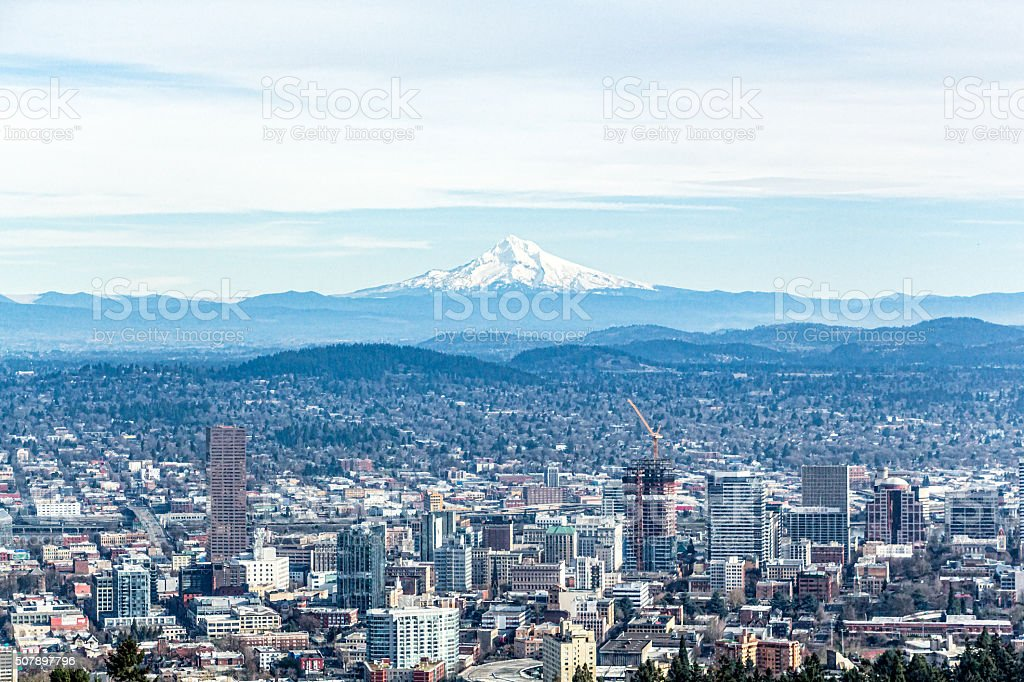 Portland Oregon City View stock photo