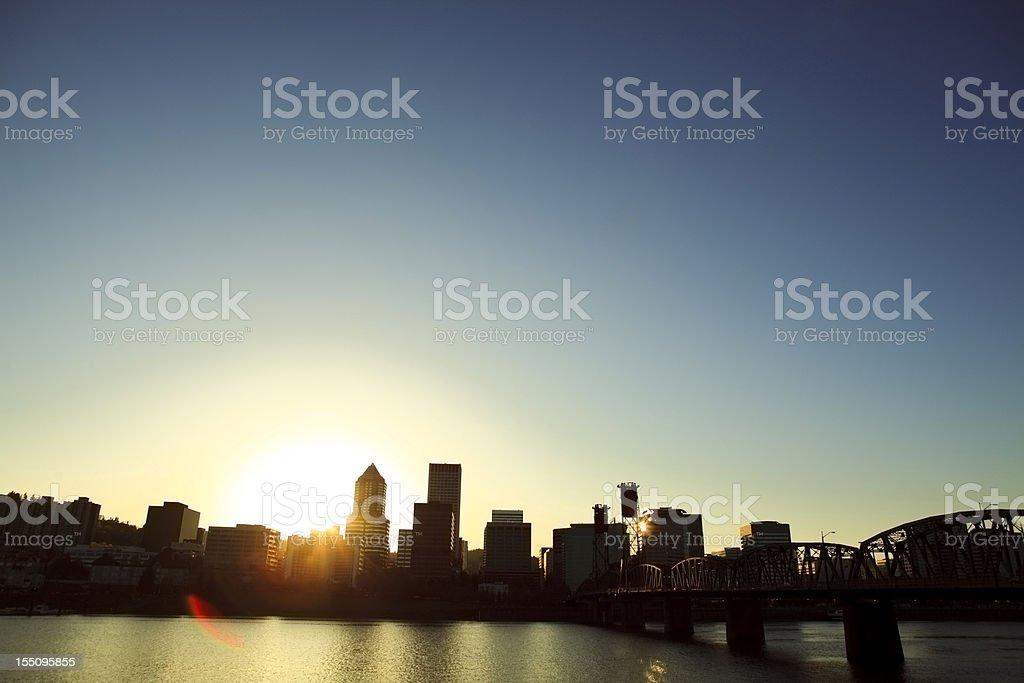 Portland, Oregon Cityscape royalty-free stock photo