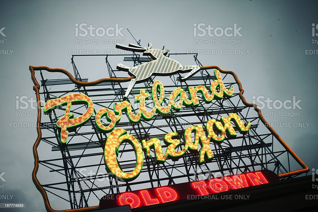 Portland Oregon Sign stock photo