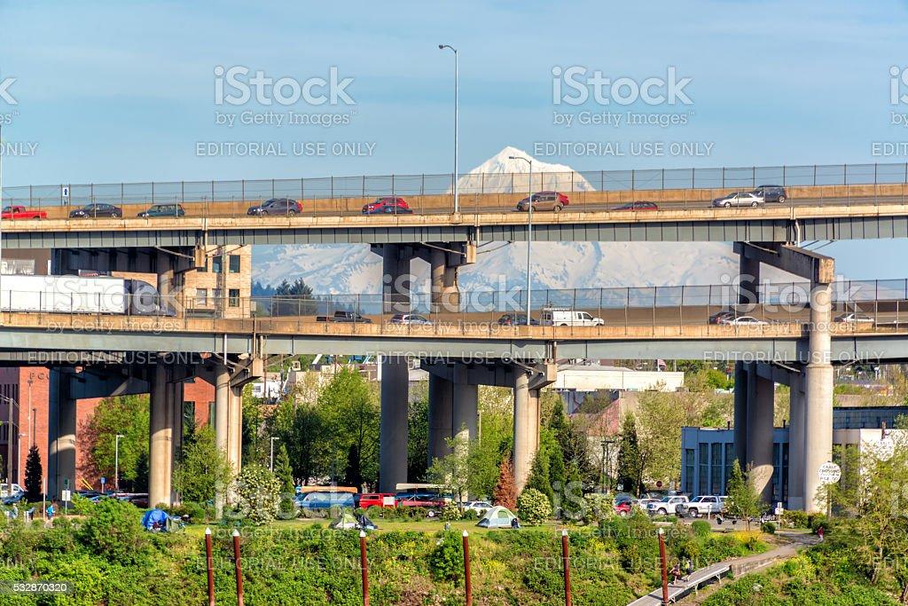 Portland, Oregon Traffic stock photo