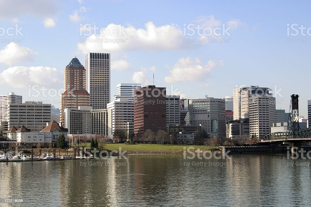 Portland Oregon  - View From the East royalty-free stock photo