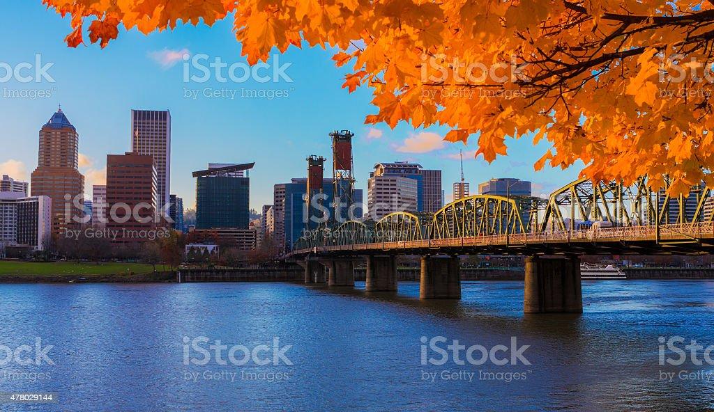 Portland, Oregon Waterfront stock photo