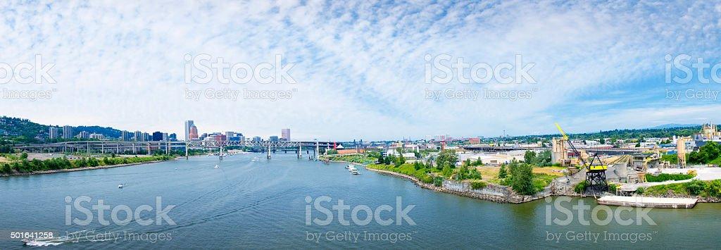 Portland Panorama stock photo