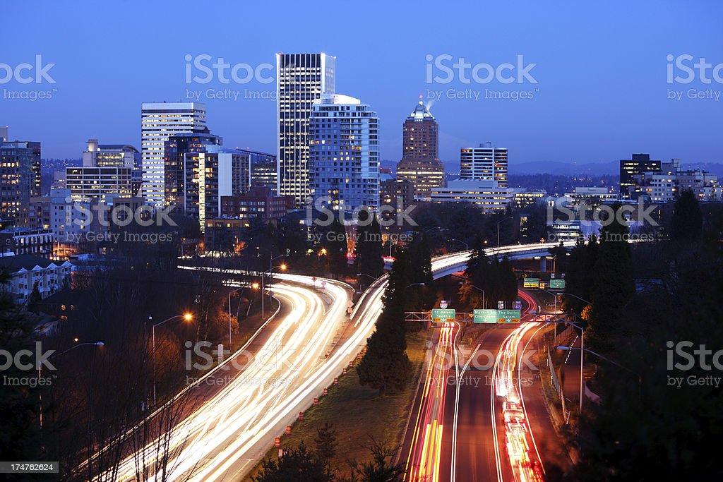 Portland Skyline. royalty-free stock photo