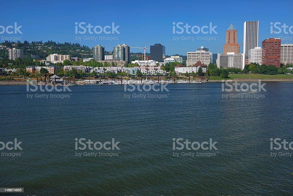 Portland Skyline, South Waterfront stock photo