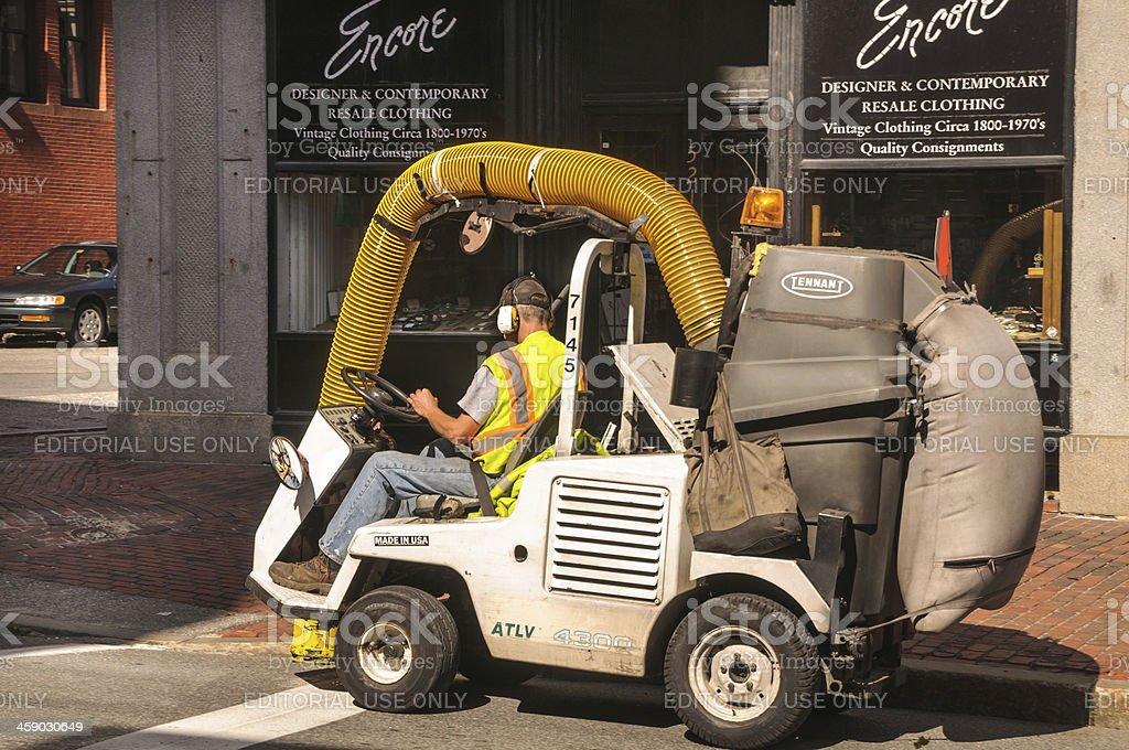 Portland Street Sweeper royalty-free stock photo