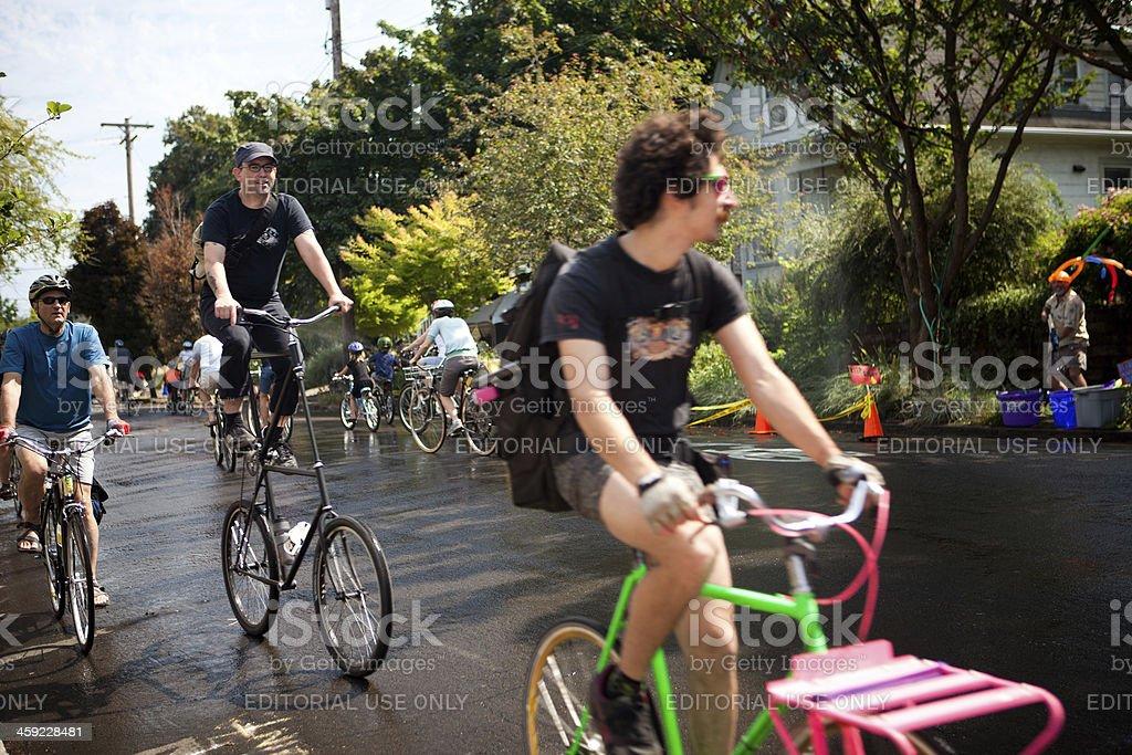 Portland Sunday Parkways royalty-free stock photo