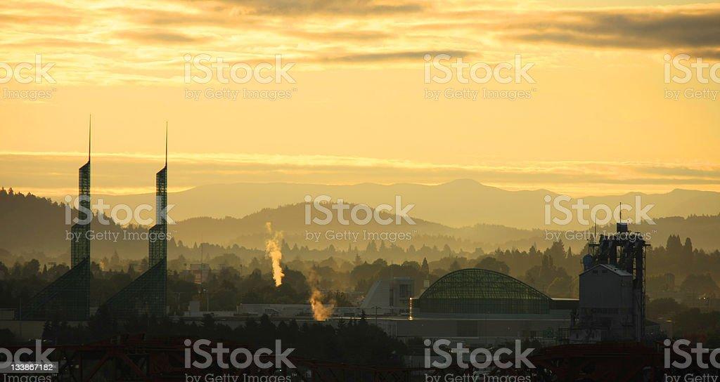 Portland urban skyline stock photo