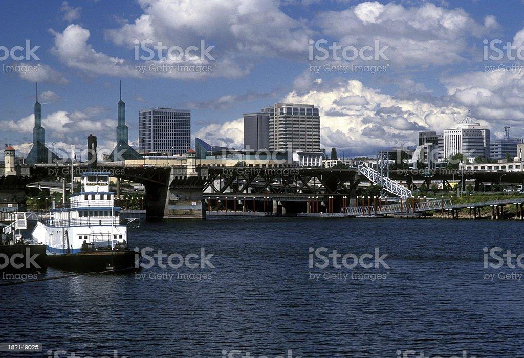 Portland waterfront stock photo