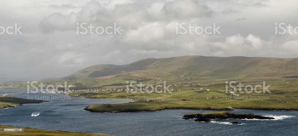 Portmagee, Co. Kerry, Ireland. stock photo