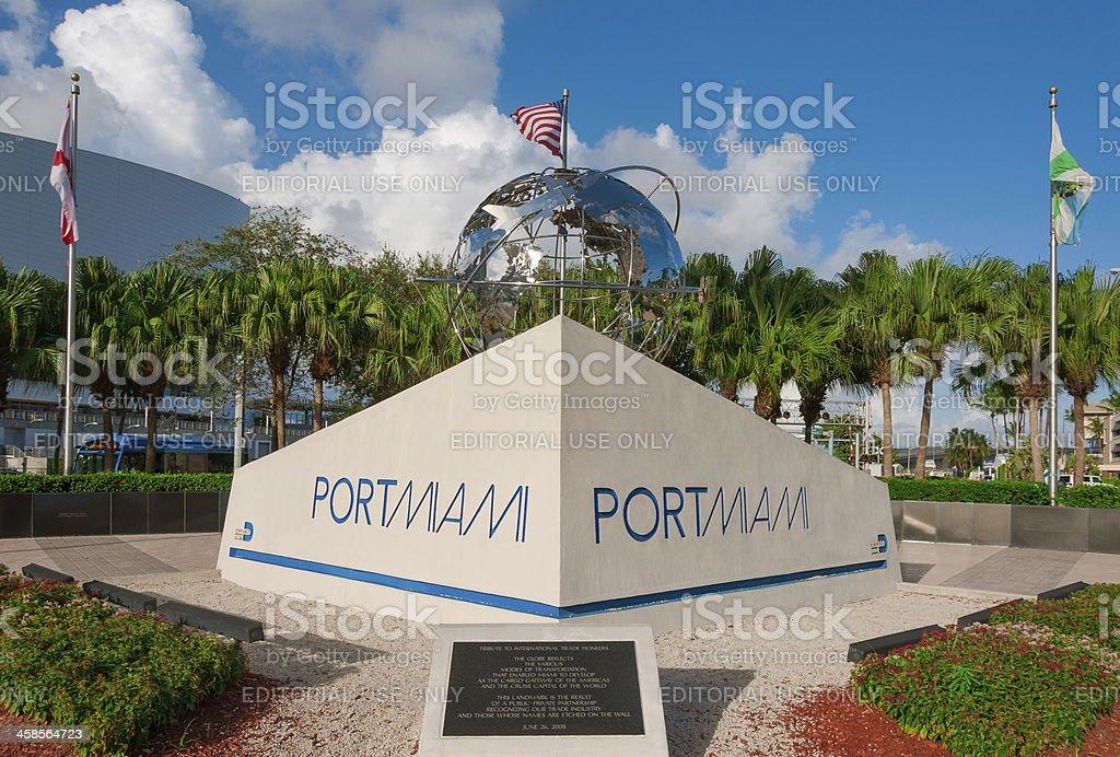 PortMiami Sign stock photo
