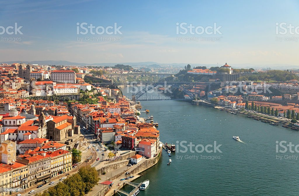 Porto aerial, Portugal stock photo