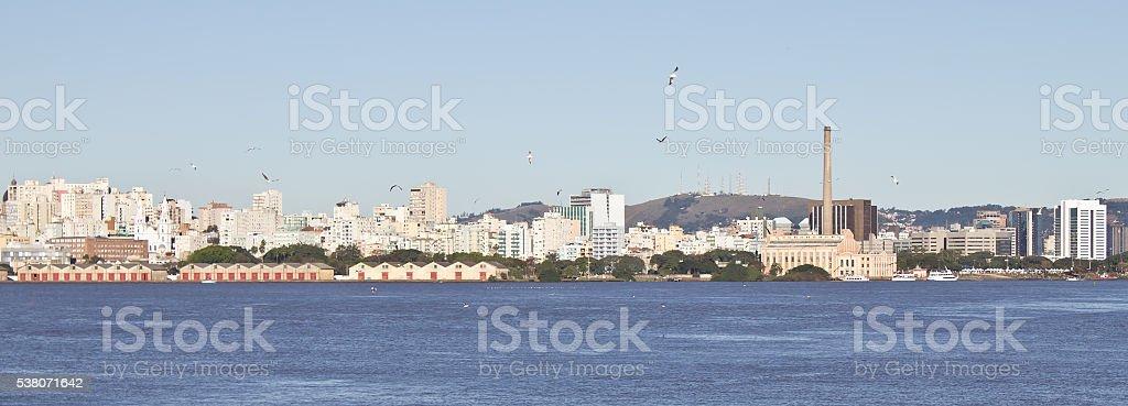 Porto Alegre port stock photo