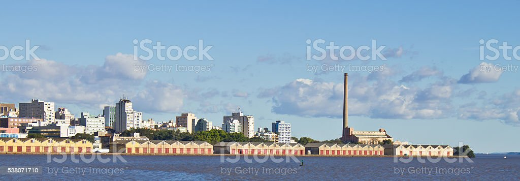 Porto Alegre port stock photo