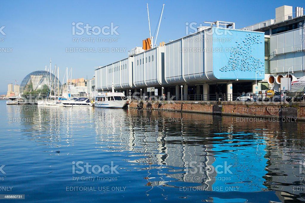 Porto Antico in Genoa, Italy stock photo