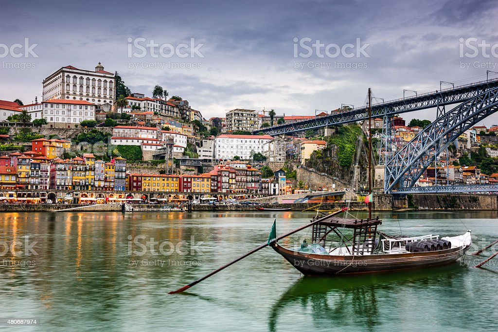 Porto at Dusk stock photo