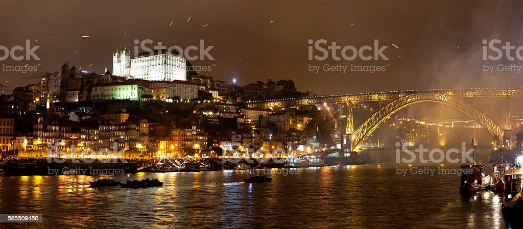 Porto by Night stock photo