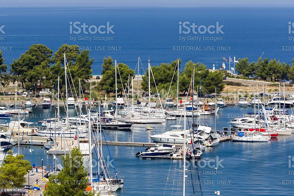 Porto Carras marina stock photo