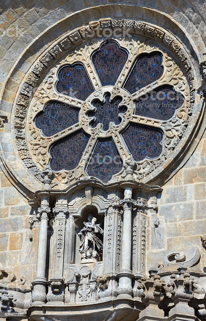 Porto Cathedral details, Portugal. stock photo