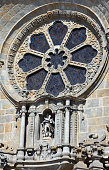 Porto Cathedral details, Portugal.