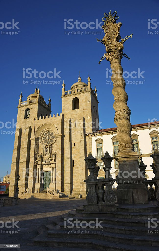 Porto Cathedral, Portugal royalty-free stock photo