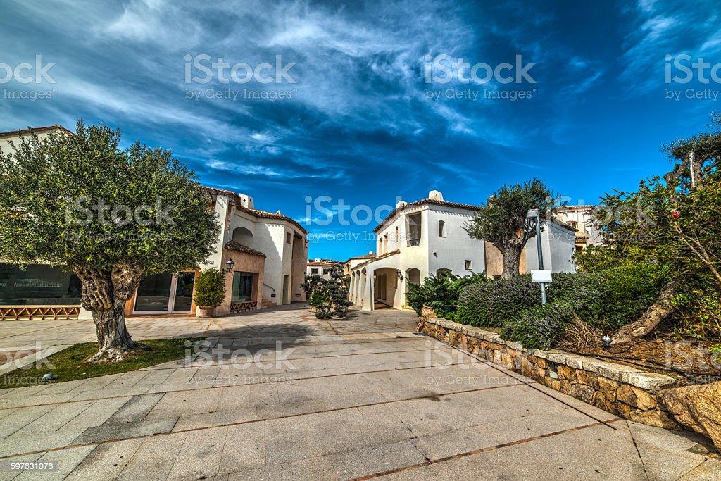 Porto Cervo small square stock photo