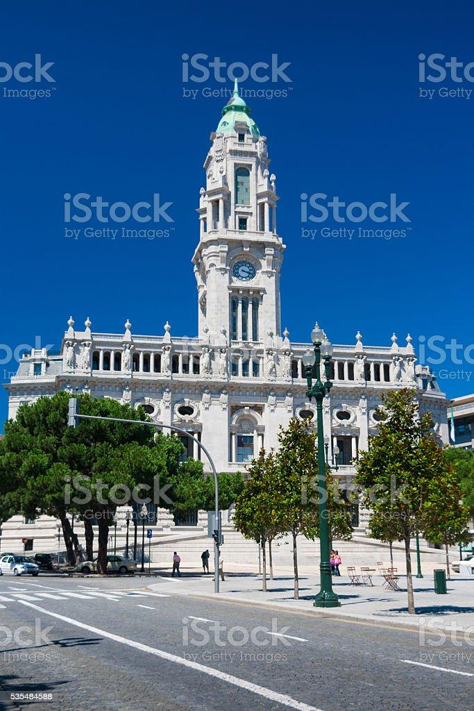 Porto city Hall in Portugal stock photo