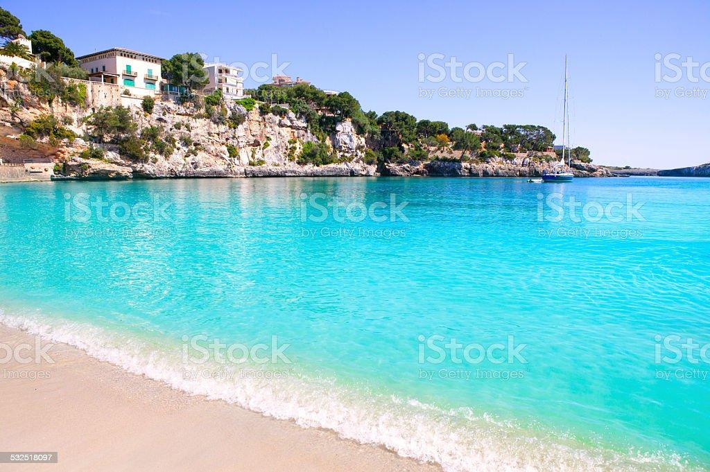 Porto Cristo beach in Manacor Majorca Mallorca stock photo
