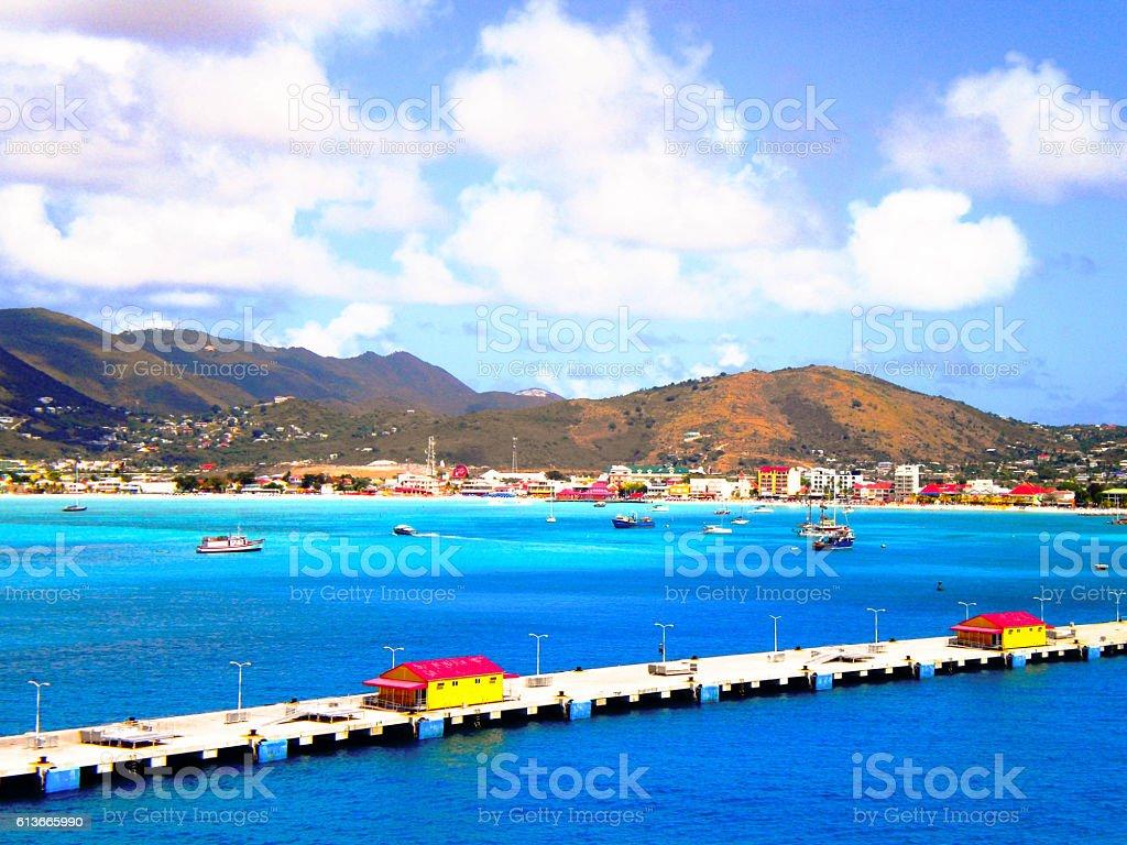 Porto di San Marteen stock photo