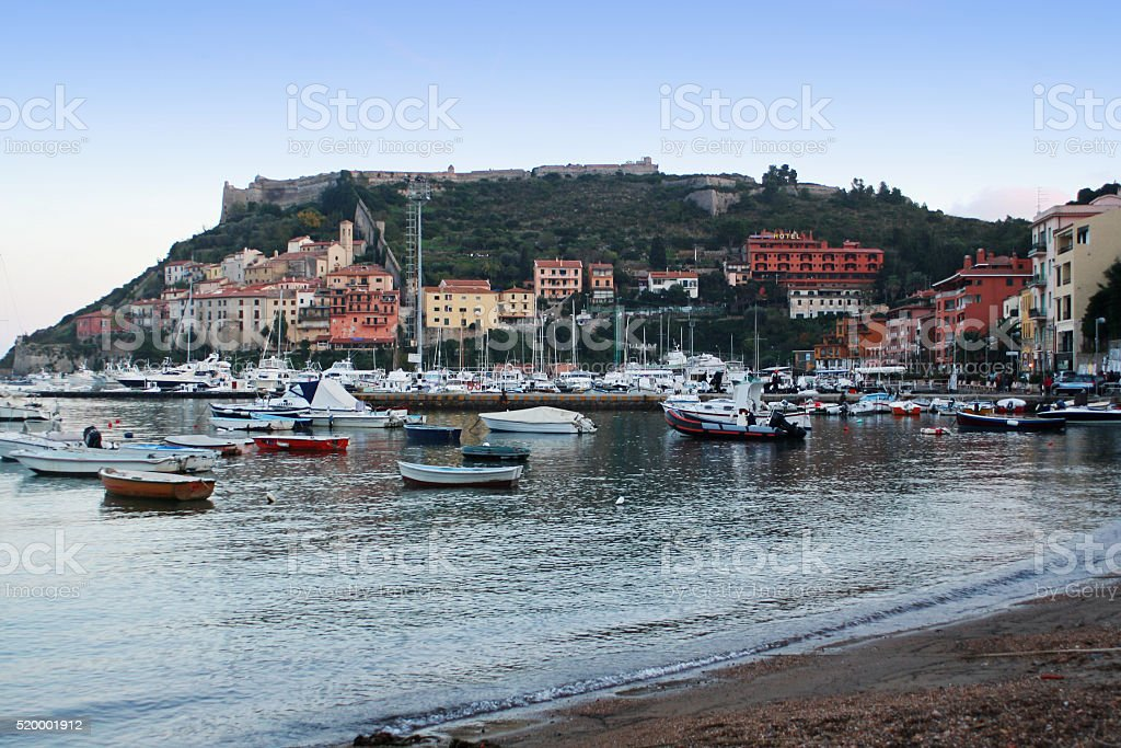 Porto Ercole in Tuscany in Italy stock photo