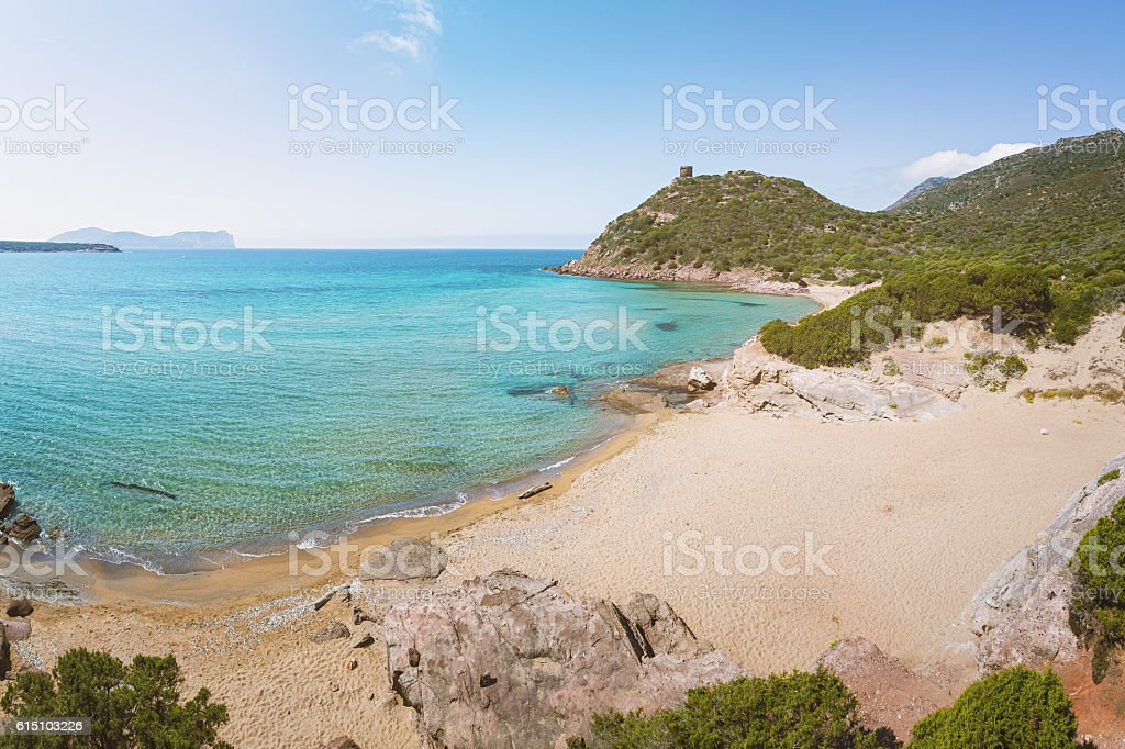 Porto Ferro Beach, Sardinia, Italy stock photo