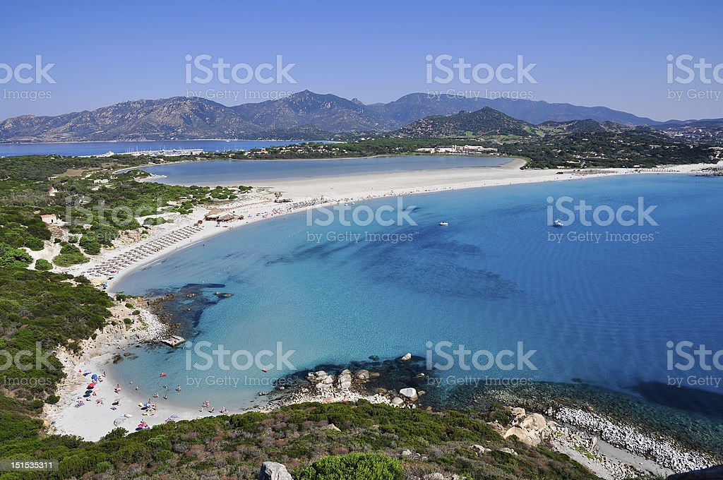 Porto Giunco, Villasimius, Sardinia, Italy. stock photo