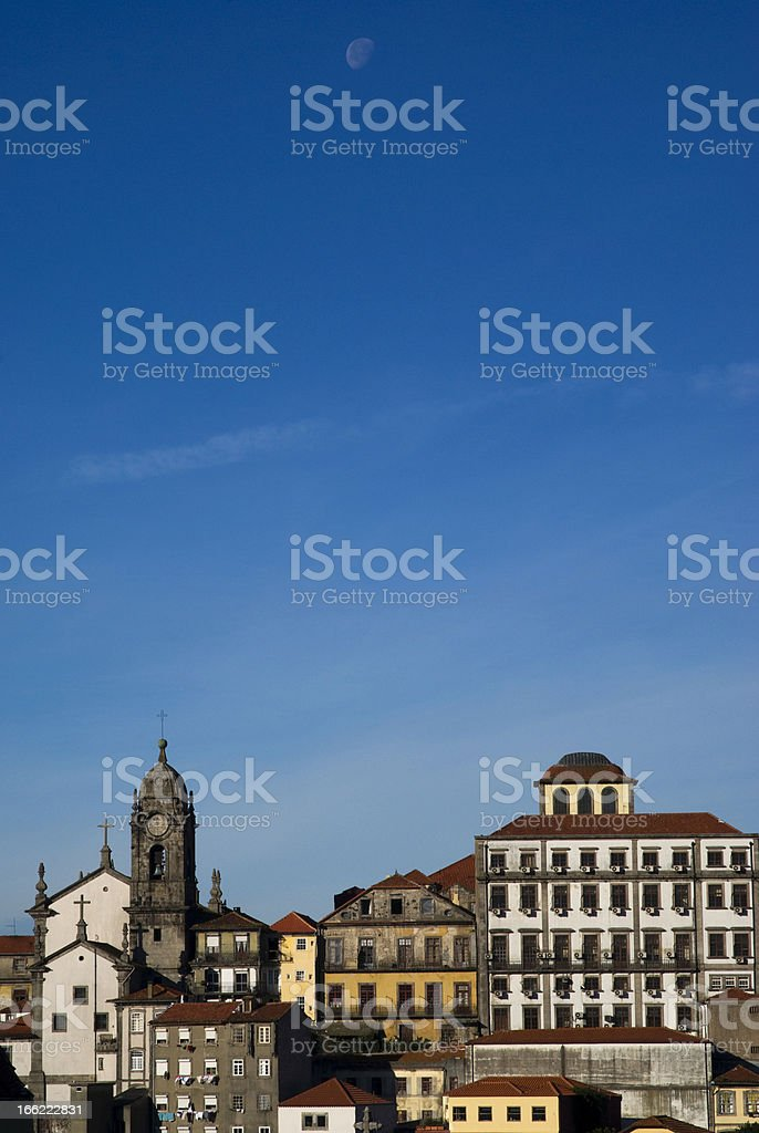 Porto in the sunrise light royalty-free stock photo