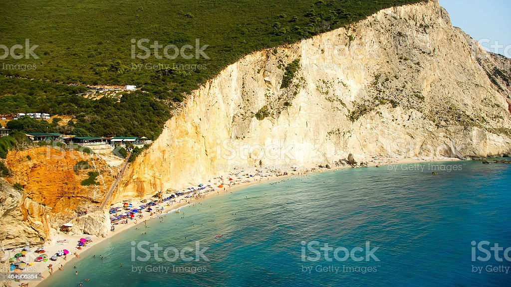 Porto Katsiki beach in Lefkada island, Greece stock photo