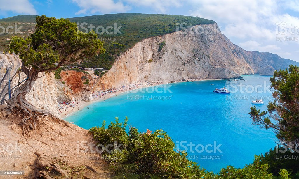 Porto Katsiki beach, Lefkada island, Greece stock photo