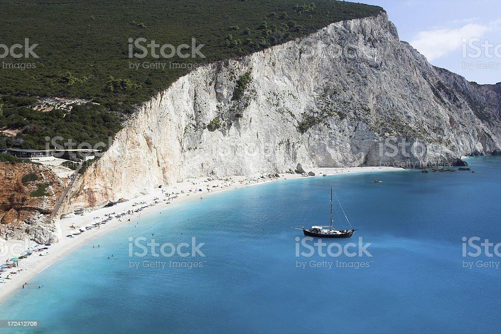Porto Katsiki beach on Lefkas stock photo
